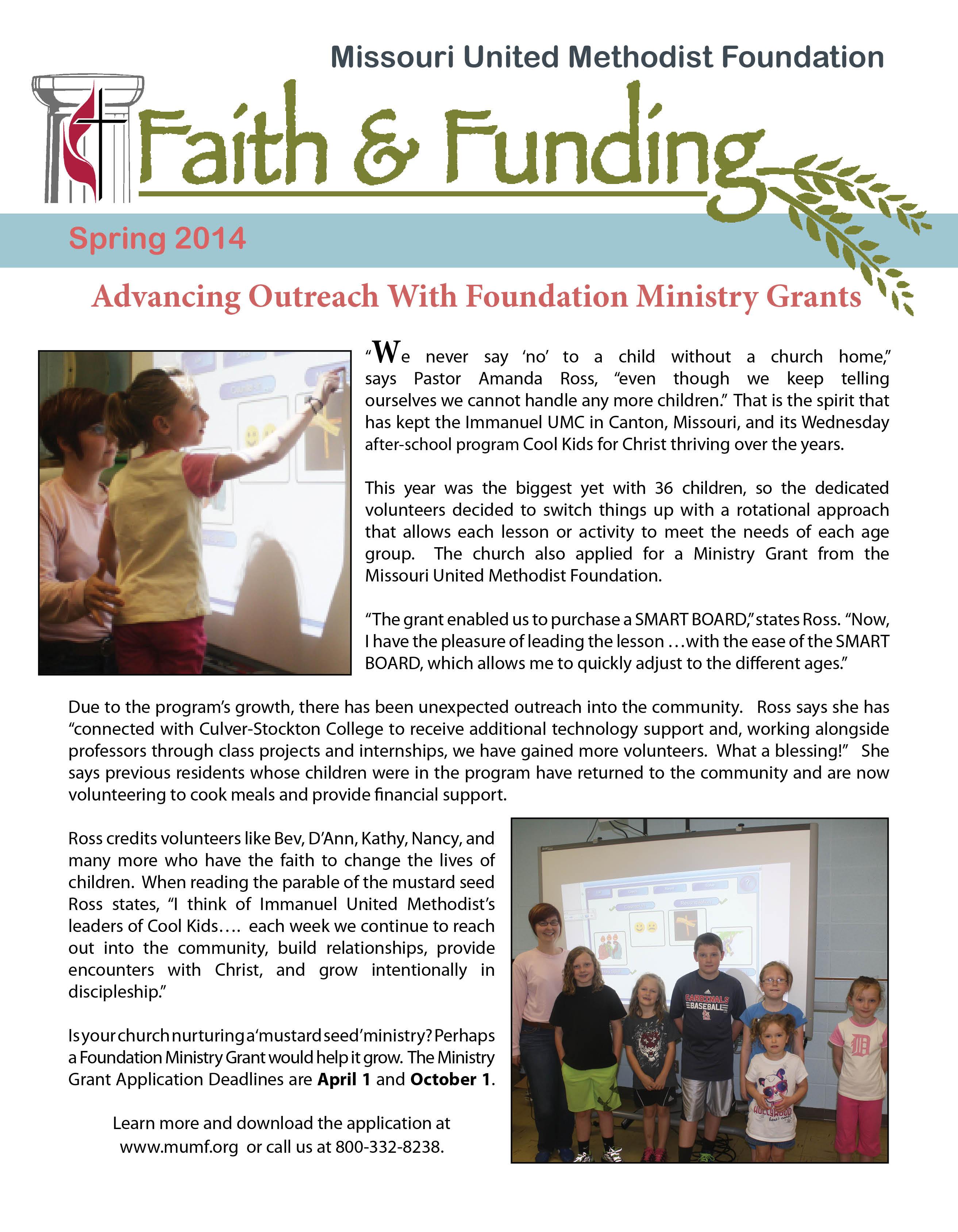 missouri united methodist foundation publications